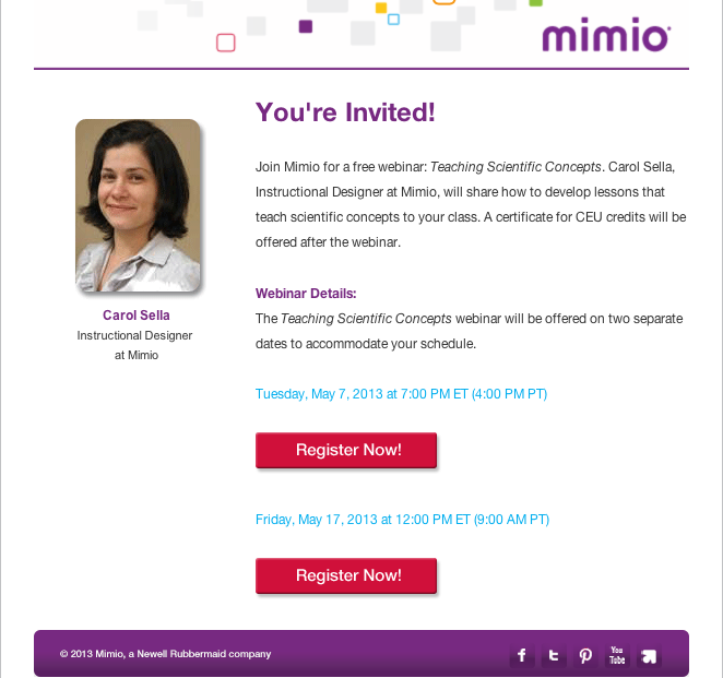 Project – MimioScience Launch | Dawn Aguiar
