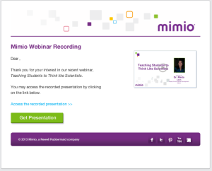 Post Webinar Recording Email
